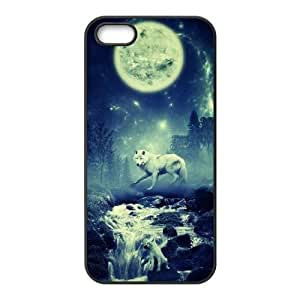 Custom Case for iPhone 5,iPhone 5s w/ Wolf image at Hmh-xase (style 10) by waniwa