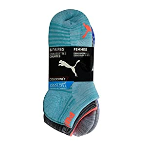 Puma - Women's Low-Cut Socks, Pack of 6 Pairs - Bright Pink Multi, 9-11