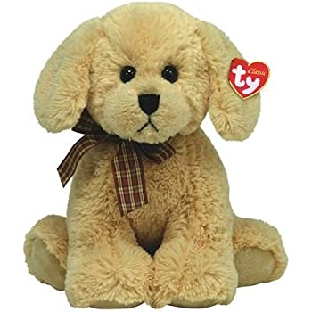 db889ad9df9 Amazon.com  TY Classic - Barley - Beige dog with White  Toys   Games