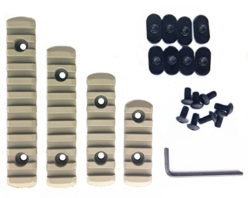 Loglife Polymer Rail Section Kit for MOE Handguard, L5/L4/L3/L2 , Tan