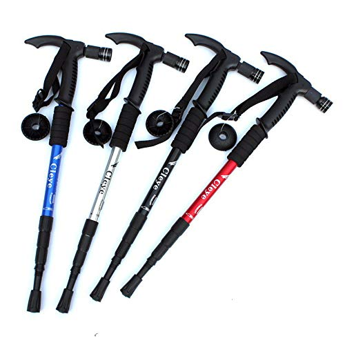 Outdoor Trekking Poles, Collapsible Telescopic Auminum Alloy Trekkings Poles Reducing Arm Fatigue, for Hiking Walking…