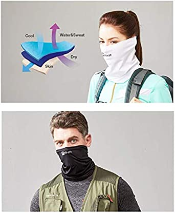 Multi Neck Gaiter N-rit TUBE9 Cool X Sports MASK Cooling MASK Anti DUST,UV for Woman Men FACE MASK Headwear