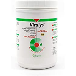Vetoquinol Viralys L-Lysine Supplement for Cats, 21oz/600g - Cats & Kittens of All Ages - Immune Health - Sneezing, Runny Nose, Squinting, Watery Eyes - Palatable Fish & Poultry Flavored Lysine Powder