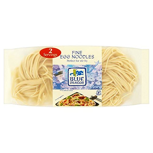Chinese Egg Noodles (Blue Dragon Fine Egg Noodles - 100g (0.22lbs))