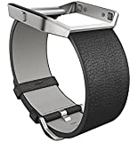 Fitbit Blaze Accessory Band, Leather, Black, Small