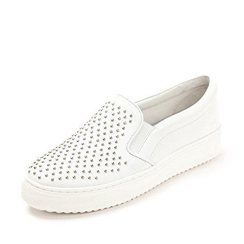 de plataforma zapatos blanco remache pedal de Primavera plataforma zapatos Un de UtFnzSWS