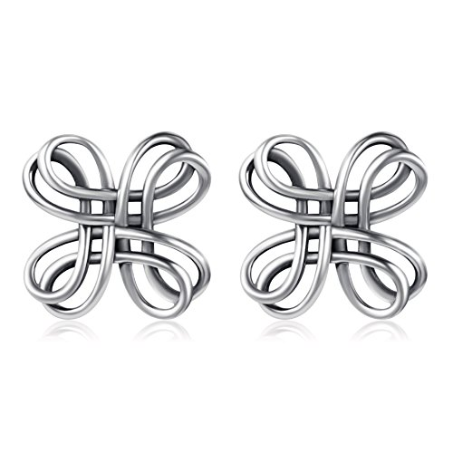 41c300545 Celtic Knot Studs 925 Sterling Silver Oxidation Polished Celtic Knot Cross  Bow Stud Earrings (Celtic