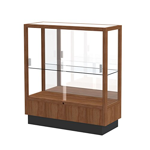 Waddell Heritage Plaque Back Countertop Display Case, 36W by 40H by 14