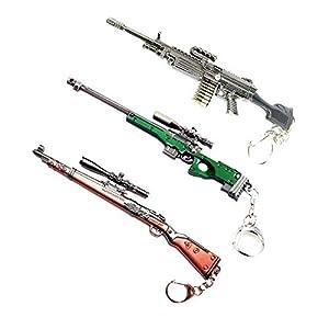 Pubg KAR98 AWM M249 Metal Sniper Weapon PUBG Gun Keychain