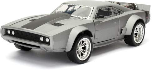 Jada Toys Fast & Furious 8 Doms Ice Charger Diecast Collectible Toy Vehicle/Car, Silver ()