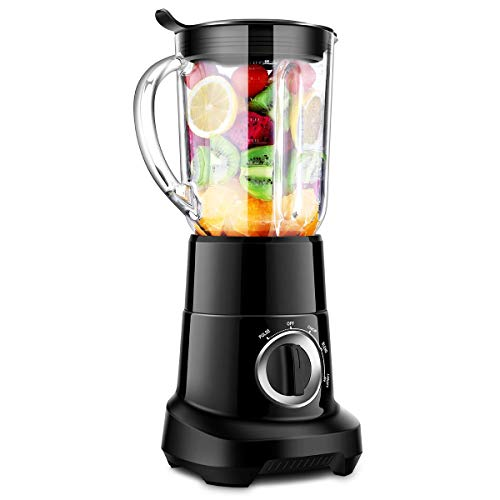 Professional Blender, Smoothie Blender with 53 Oz BPA-Free Pitcher, High Speed Blender with 5 Layer Sawtooth Stainless Steel Blades 1.5L Glass Jar,Ice Cream, Baby Food, Smoothie, and Coffee Bean