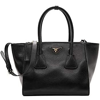 90a1fc19447e Amazon.com  Prada Women s Tessuto Black Nylon Shopping Tote Handbag ...