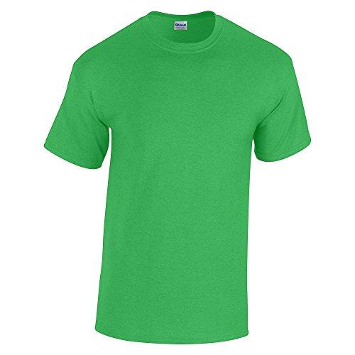 GildanHeavy Manica Maglietta Uomo Menta Corta Verde Cotton WDE9Y2IH