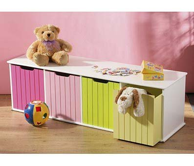 Childrens Toy Box/Storage Units ~ 4 Coloured Drawers