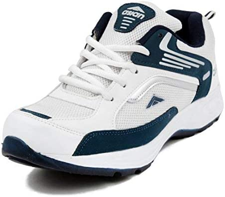 Asian Future-01 White Blue Running,Sports,Walking,Gym Shoes for Men