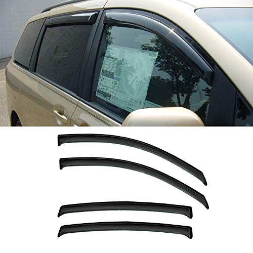 - JJ 94365 For 11-18 Toyota Sienna XL30 Sun Rain Guard Vent Shade Side Window Wind Deflectors Window Visors