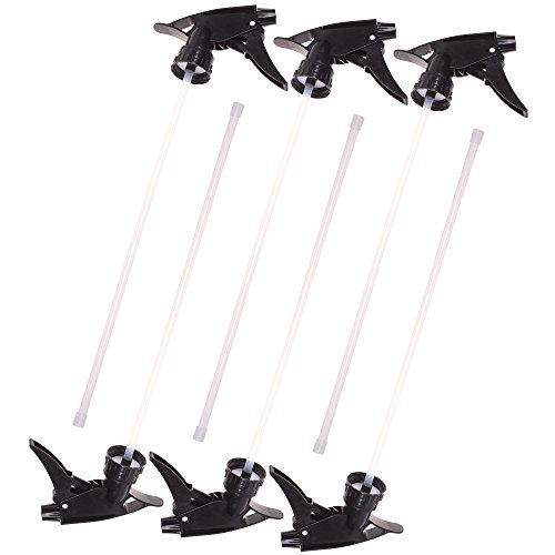 COSMOS Pack of 6 PCS Black Trigger Sprayers Watering Nozzles Replacement for bottles