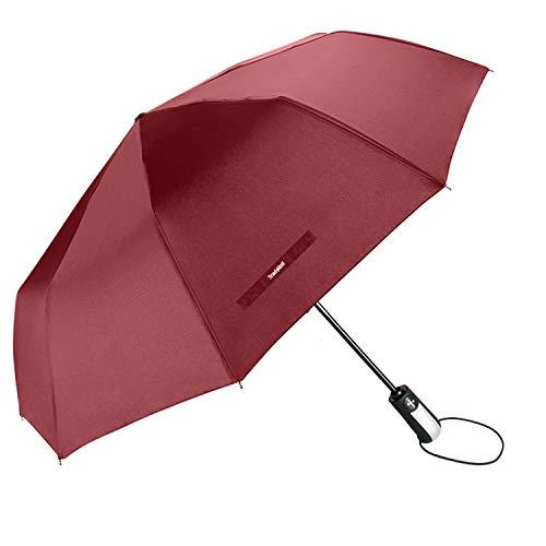 Reinforced Fiberglass Ribs - TradMall Travel Umbrella Windproof with 10 Reinforced Fiberglass Ribs 42