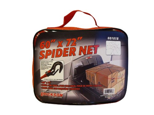 "Erickson 01018 Multi 60"" x 72"" Spidee Cargo Net with Carry Bag"