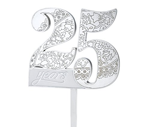 - Lillian Rose 25th Anniversary Decor Number Cake Topper