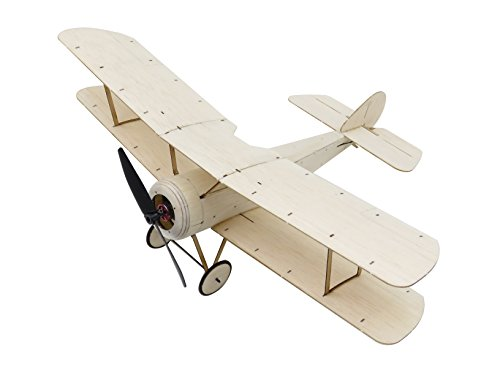 Mini RC Plane Kit Sopwith Pup Biplane Model Aircraft, 14.8'' Wingspan Balsa Wood Airplane Kits to Build, DIY Radio Controlled Airplane Electric RC Aeroplane for Adults Indoor Fly (KIT+Motor+ESC+Servo) (Rc Plane Kit Electric)