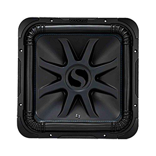 Kicker L7S15 Car Audio Solo-Baric 15 Subwoofer Square L7 Dual 2 Ohm Sub 44L7S152 - Misaligned Cone ()
