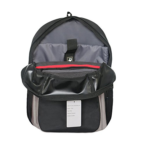 Thikin - Bolso al hombro para hombre large, gris (Gris) - Thikin Backpack gris