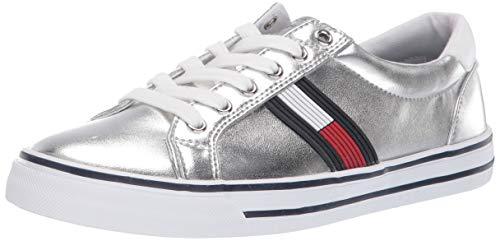 Tommy Hilfiger Women's ONEAS Sneaker Silver 7 M US
