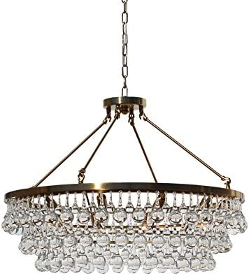 LightUpMyHome Celeste Glass Drop Crystal Chandelier