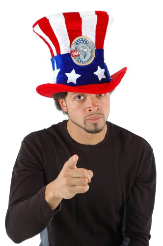 [Std Size Adult USA Uncle Sam REPUBLICAN Campaign Hat] (Uncle Sam Halloween Costumes)
