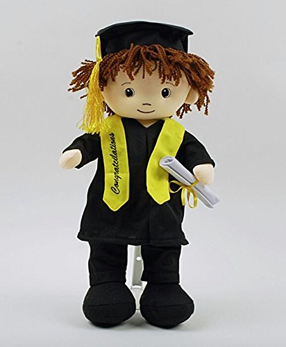 [Cute Boy Graduation Doll Makes Great Gift for Student!] (Rag Doll Cap)