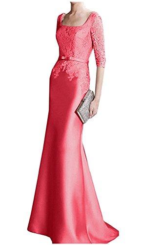 Promkleider Ballkleider mit Etuikleider Brautmutterkleider mia Herrlich Spitze Weiss Langarm Braut Wassermelon Abendkleider La FqxaRn