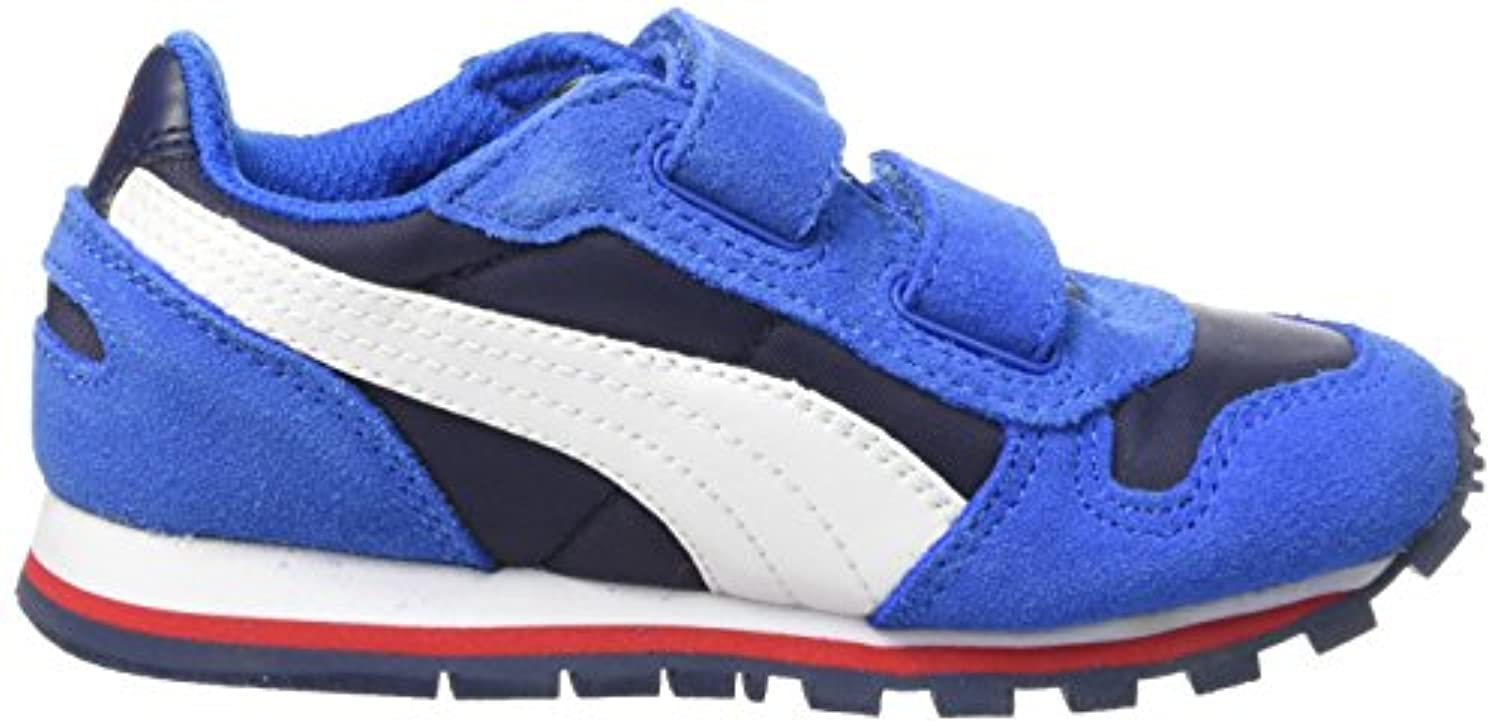 Puma Boys' St Runner Nl V Low-Top Sneakers Blue Size: 3 Child UK