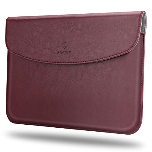 Fintie Sleeve Case Compatible with New Microsoft Surface Go - Slim Fit Vegan Leather Protective Cover w/Stylus Loop for Microsoft Surface Go 10 Tablet, Compatible with Type Cover Keyboard (Burgundy)