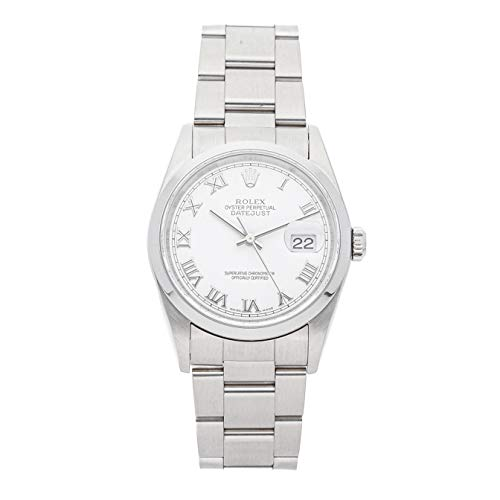 Rolex Datejust Mechanical (Automatic) White Dial Mens Watch 16200 (Certified Pre-Owned)