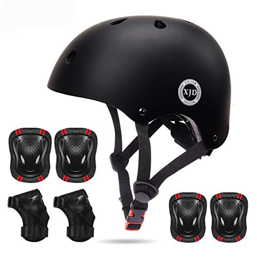 XJD-Kids-Bike-Helmet-Toddler-Helmet-for-Kids-3-13-Years-Sport-Protective-Gear-Set-Boy-Girl-Adjustable-Child-Cycling-Helmet-with-Knee-Pads-Elbow-Pads-Wrist-Guards-Youth-Skateboard-Helmet-CPSC-Certified