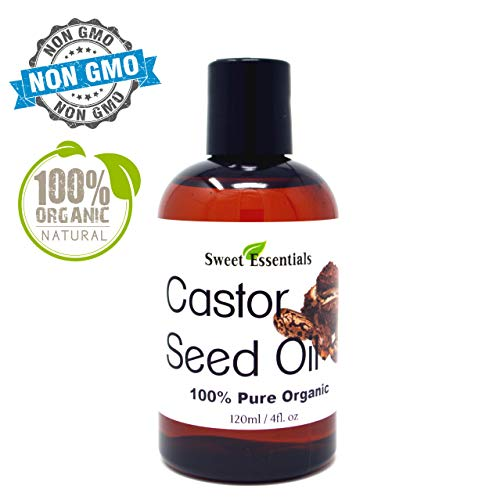 Premium Organic Castor Seed Oil | Imported From India | 4oz | Hexane Free | Excellent For Hair Growth | Eyebrow - Eyelashes | Skin Moisturizing