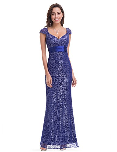 Ever Pretty Womens Long Fitted Sexy Lace Mermaid Style Prom Dress 8...