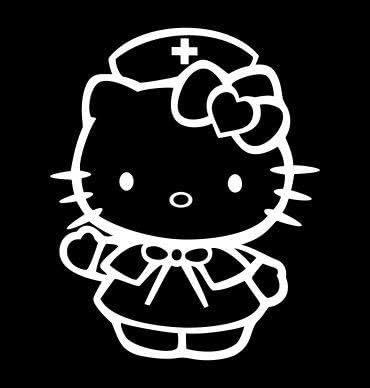 HELLO KITTY Zombie Response Team Vinyl Decal Auto Graphics or Wall Sticker