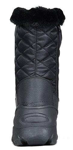 DREAM Mid Faux Linx PAIRS Boots Women's Snow Fur Winter black Calf Lined Xxw7xfrq6A