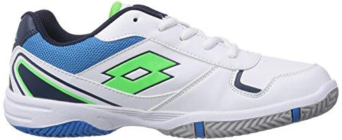 FL JR Unisex STRATOSPHERE WHITE MINT Sport Mehrfarbig Lotto Tennisschuhe Kinder L xHS6fwqg