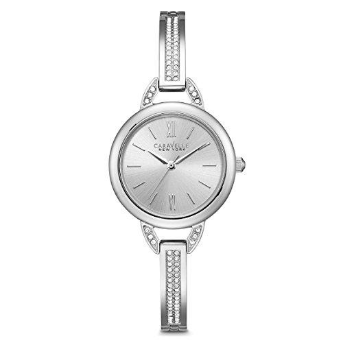 Caravelle New York Women's 43L200 Swarovski Crystal Stainless Steel Watch - Steel Watch Bangle Ladies Bulova