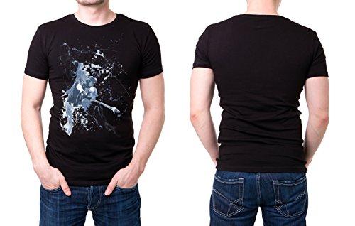 Baseball_II schwarzes modernes Herren T-Shirt mit stylischen Aufdruck