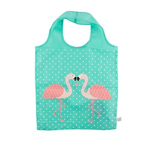 Sass & Belle Reusable Foldable Shopping Tote (Flamingo)