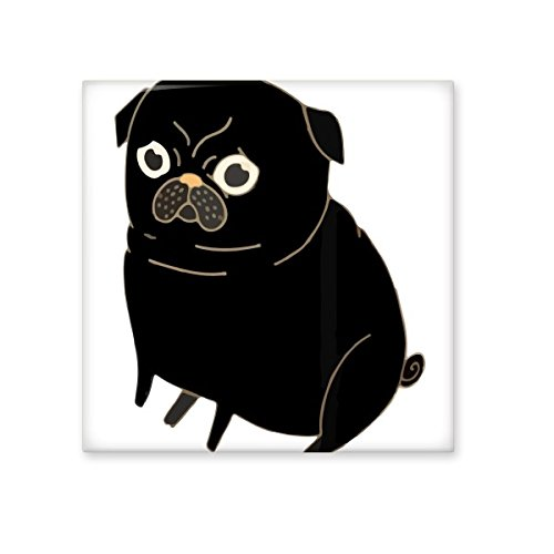 Animal Protector Pet Lover Pet Slave Comic Style Cartoon Black Doge Dog Creative Pattern Ceramic Bisque Tiles for Decorating Bathroom Decor Kitchen Ceramic Tiles Wall Tiles durable service