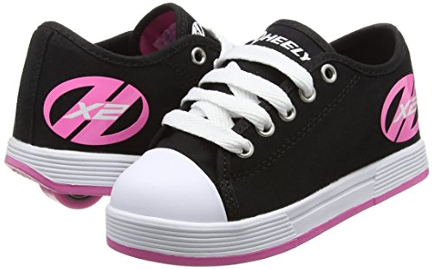 Heelys Fresh 770497, Girls' Sneakers, multi (Black/Pink), 1 UK (33 EU)