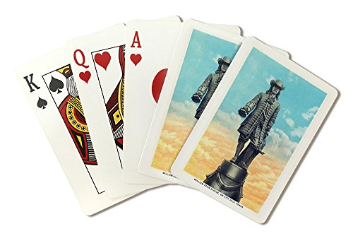 Penn Statue William - Philadelphia, Pennsylvania - William Penn Statue on City Hall Tower (Playing Card Deck - 52 Card Poker Size with Jokers)