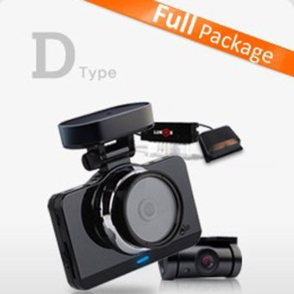 NEW Lukas LK-9700 Duo (LK-9700GD) D Type Full Package. + LK-750 OBD II Module + Expernal GPS (16+8=24GB) 2CH Full HD & 800x480 4