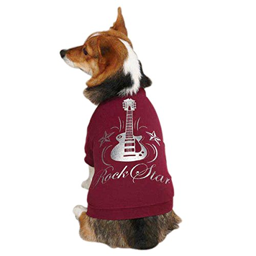 Casual Canine Rock Star Tee for Pets, X-Large Deep Raspberry by Casual Canine (Image #2)