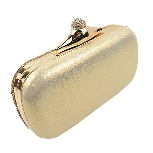 Bolso Bolso Bolsa De Noche Diamantes Imitacin Diamante Europa De De Gold Embrague Seoras Noche Y WLFHM Amrica Lser De q1p5wPnX